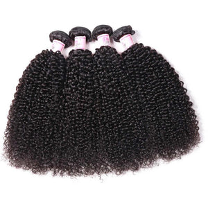 10A Virgin Hair 4 Bundles with 13 x 4 Lace Frontal Kinky Curly Hair
