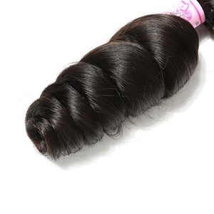 10A Brazilian Virgin Hair 100% Human Hair Loose Wave (#1B Natural Black)