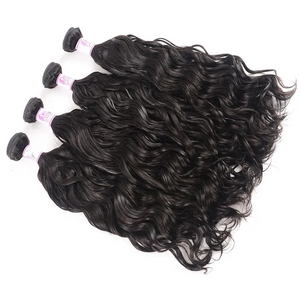 10A Virgin Hair 4 Bundles with 13 x 4 Lace Frontal Natural Wave Hair