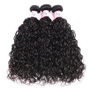 10A Indian Virgin Hair 100% Human Hair Water Wave (#1B Natural Black)