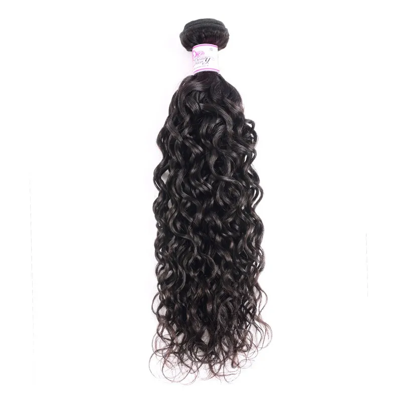 10A Brazilian Virgin Hair 100% Human Hair Water Wave (#1B Natural Black)