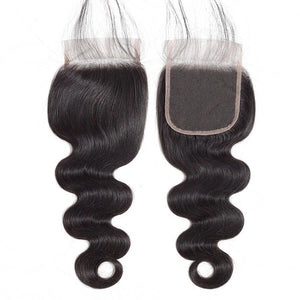 4X4 LACE CLOSURE WHOLESALE PRICE #1B NATURAL BLACK