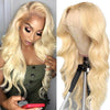 Pre-Plucked Lace Front Wigs Virgin Hair Body Wave Wig #613 Blonde