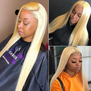 Human Hair Wigs 13 x 4 Lace Front Wigs Virgin Hair Straight Wig #613 Blonde