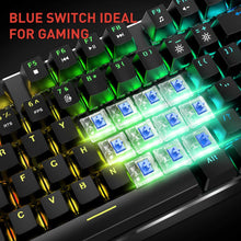 Load image into Gallery viewer, HAVIT KB393L Mechanical Gaming Keyboard and Mouse Combo 104 Keys with Rainbow Backlit