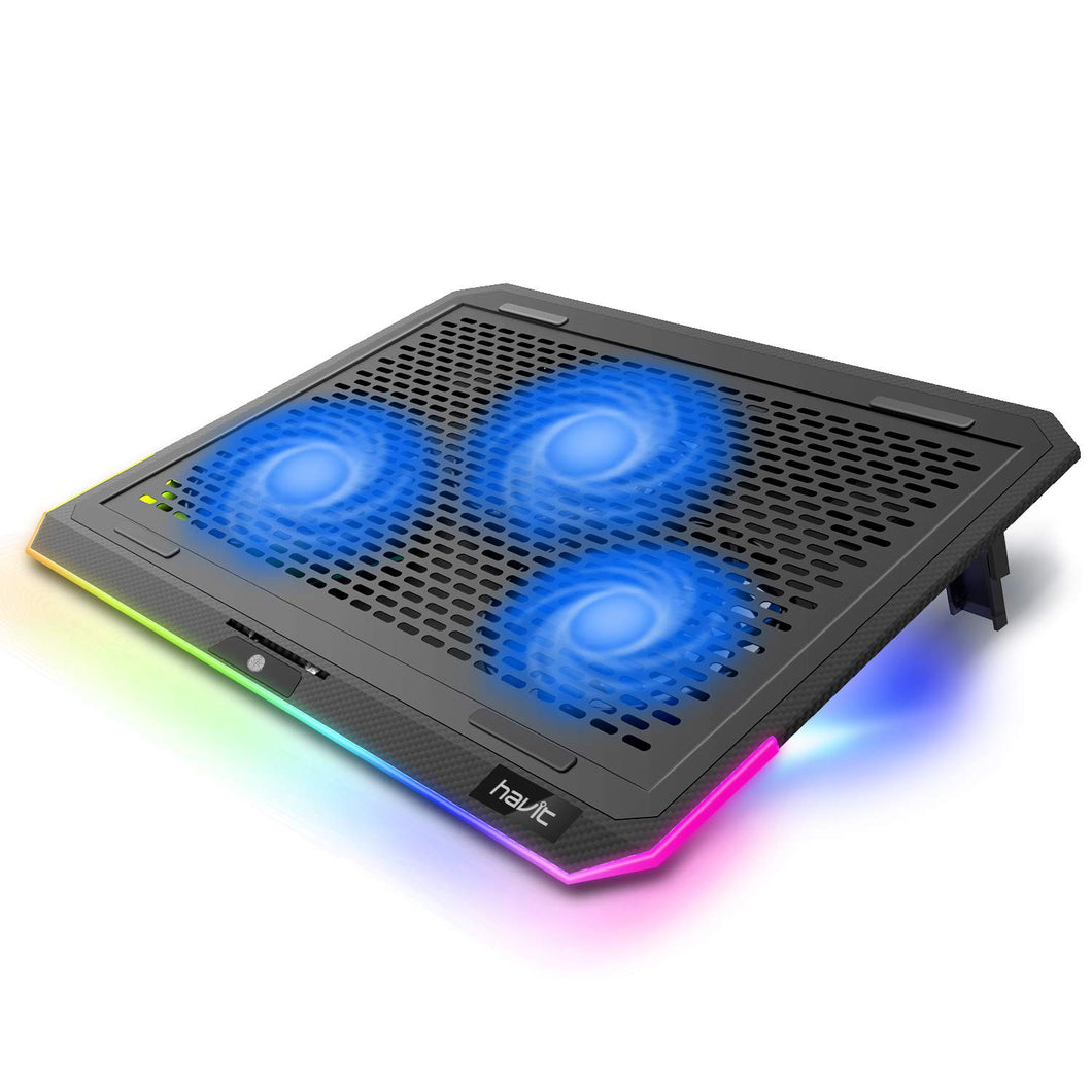 HAVIT F2073 Gaming Laptop Cooling Pad for 15.6-17 Inch Laptop with RGB Backlight & Touch Control