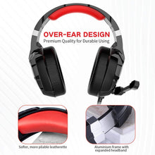Load image into Gallery viewer, HAVIT H2001D Wired Gaming Headset with LED & Noise Cancelling Mic