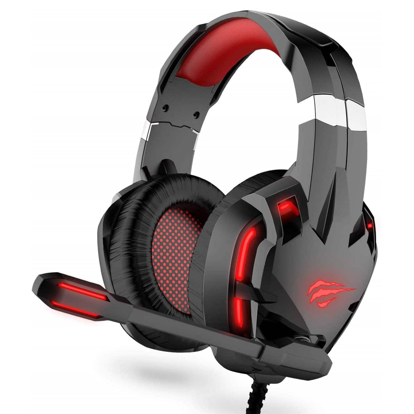HAVIT H2001D Wired Gaming Headset with LED & Noise Cancelling Mic