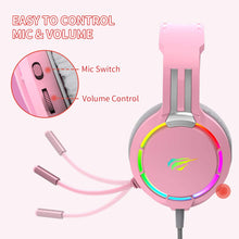 Load image into Gallery viewer, HAVIT H2010D RGB Wired Gaming Headset with Volume Control & HD Microphone