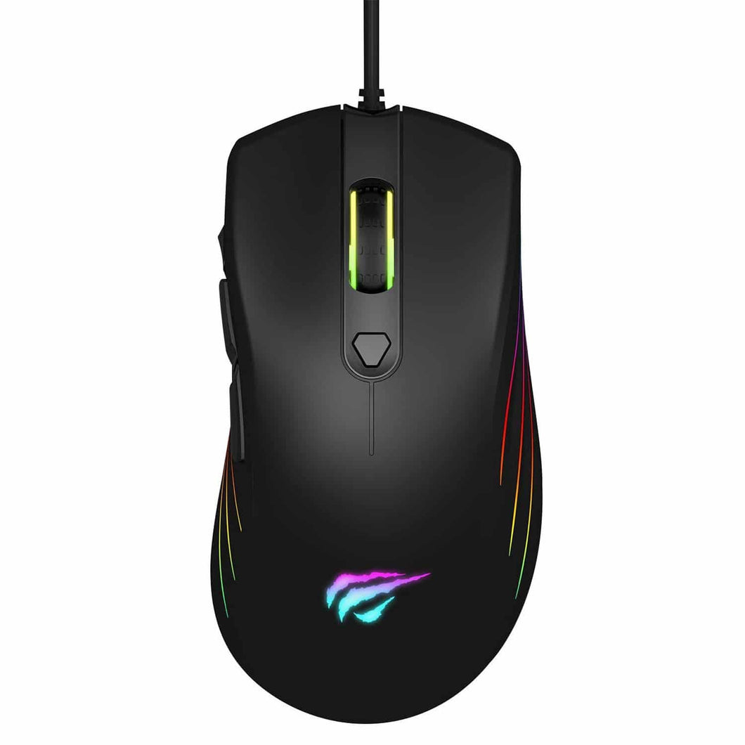 HAVIT MS762 Programmable Gaming Mouse with 7200 DPI, RGB Backlights, 7 Buttons