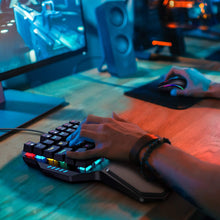 Load image into Gallery viewer, HAVIT RK-B20 One Hand RGB Gaming Keyboard & Programmable Mouse Combo - 36 Keys USB Keypad with Wrist Rest