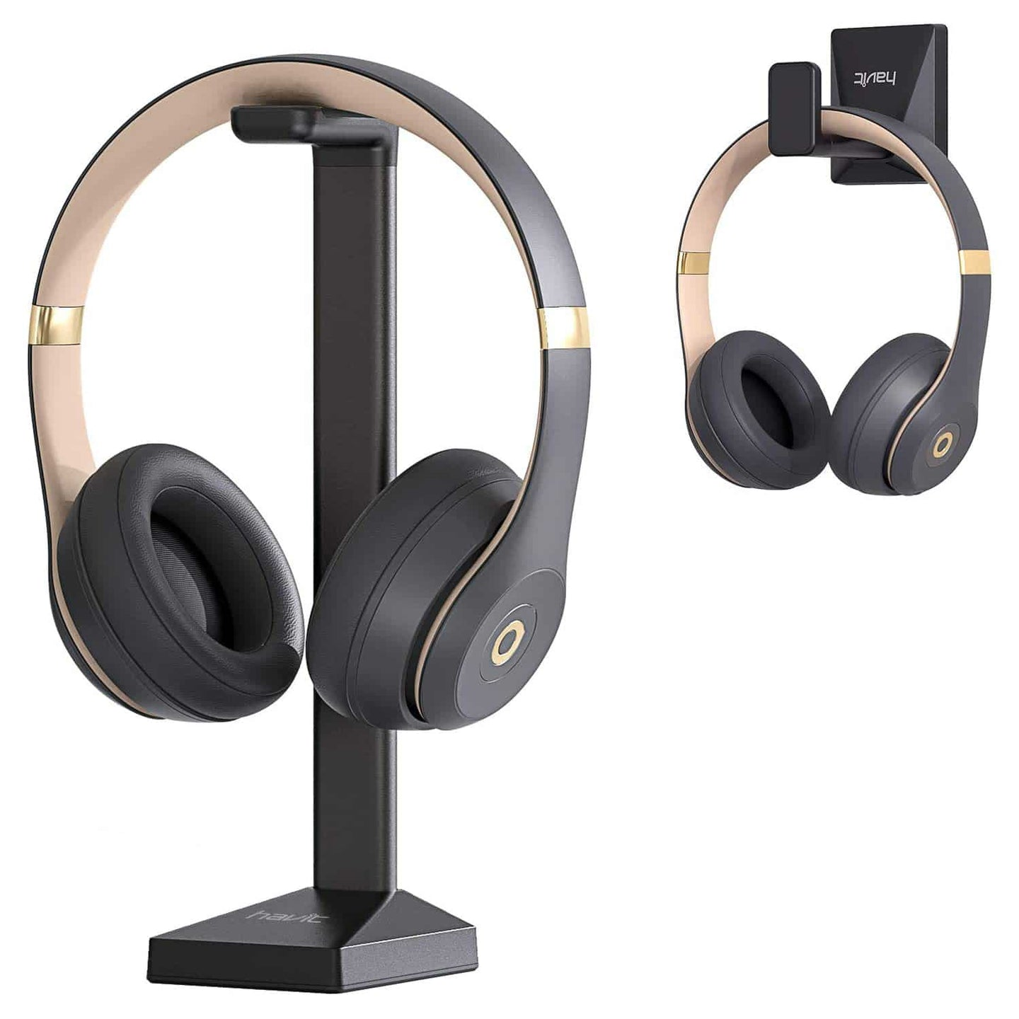 HAVIT TH670 Wall Mounted Headphone Stand with Replaceable Headset Hanger & Removable Base