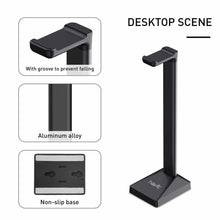 Load image into Gallery viewer, HAVIT TH670 Wall Mounted Headphone Stand with Replaceable Headset Hanger & Removable Base