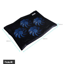 Load image into Gallery viewer, HAVIT HV-F2063A Laptop Cooling Pad for 14-17 Inch Laptops