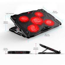 Load image into Gallery viewer, HAVIT HV-F2068 5-Fan Laptop Cooler for 14-17 Inch Laptops