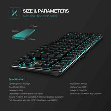 Load image into Gallery viewer, HAVIT HV-KB390L Low Profile Mechanical Keyboard, 87-Key, Programmable, LED, Kailh PG1350