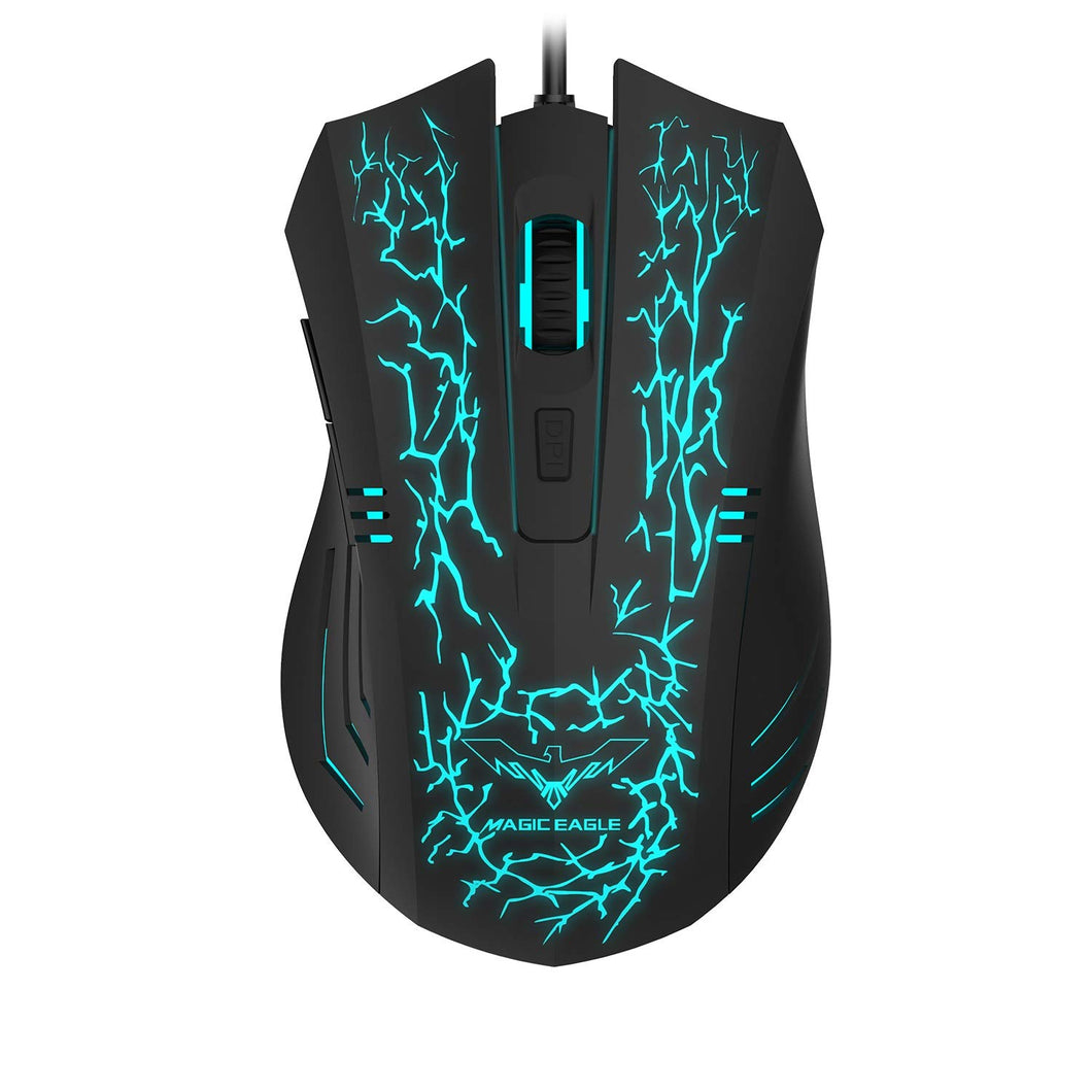HAVIT HV-MS672 Ergonomic LED Stress-Ease Wired Mouse (Updated Version)