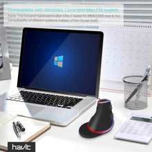 Load image into Gallery viewer, HAVIT HV-MS764 Wired Ergonomic Vertical Mouse with RGB Backlit