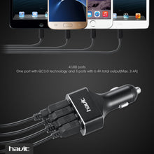 Load image into Gallery viewer, HAVIT HV-UC2034 Quick Charge 3.0 Car Charger, 54W, 4 USB Ports