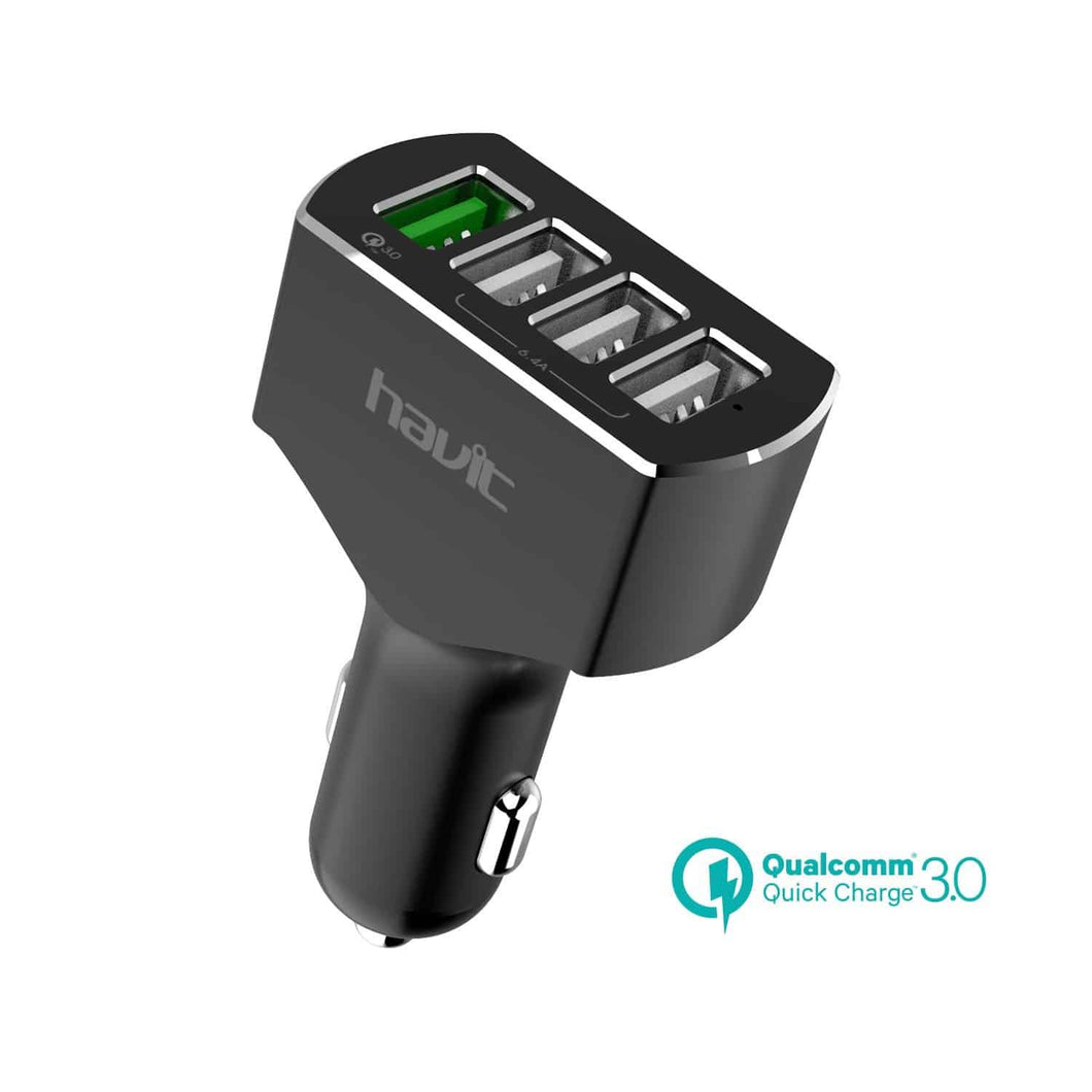 HAVIT HV-UC2034 Quick Charge 3.0 Car Charger, 54W, 4 USB Ports
