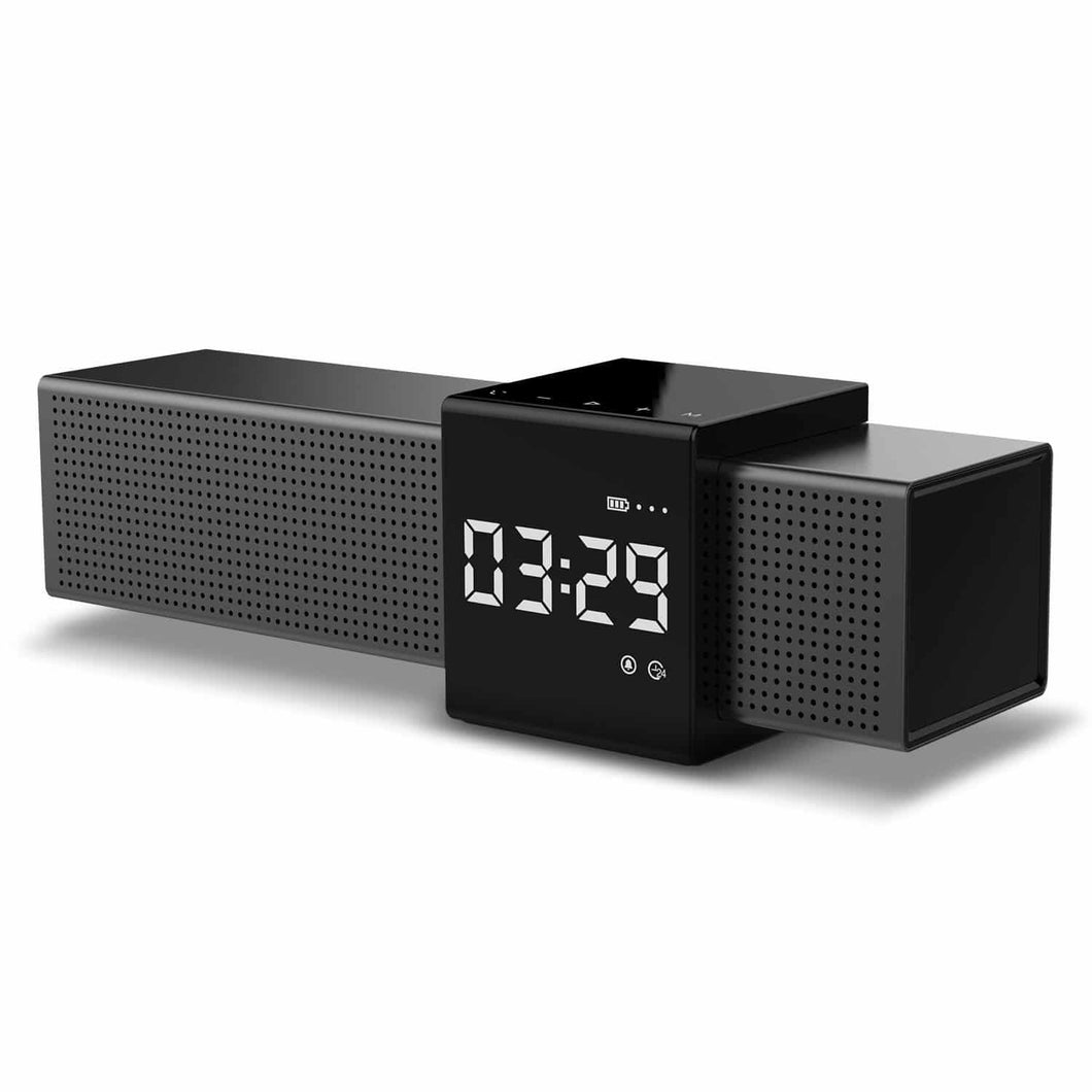 M28 Bluetooth Speaker Alarm Clock with FM Radio & Built-in Mic