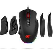 Cargar imagen en el visor de la galería, HAVIT MS760 Pro Gaming Mouse with 12000 DPI, Interchangeable Side Plates, Customizable RGB Backligts (Upgraded Version)