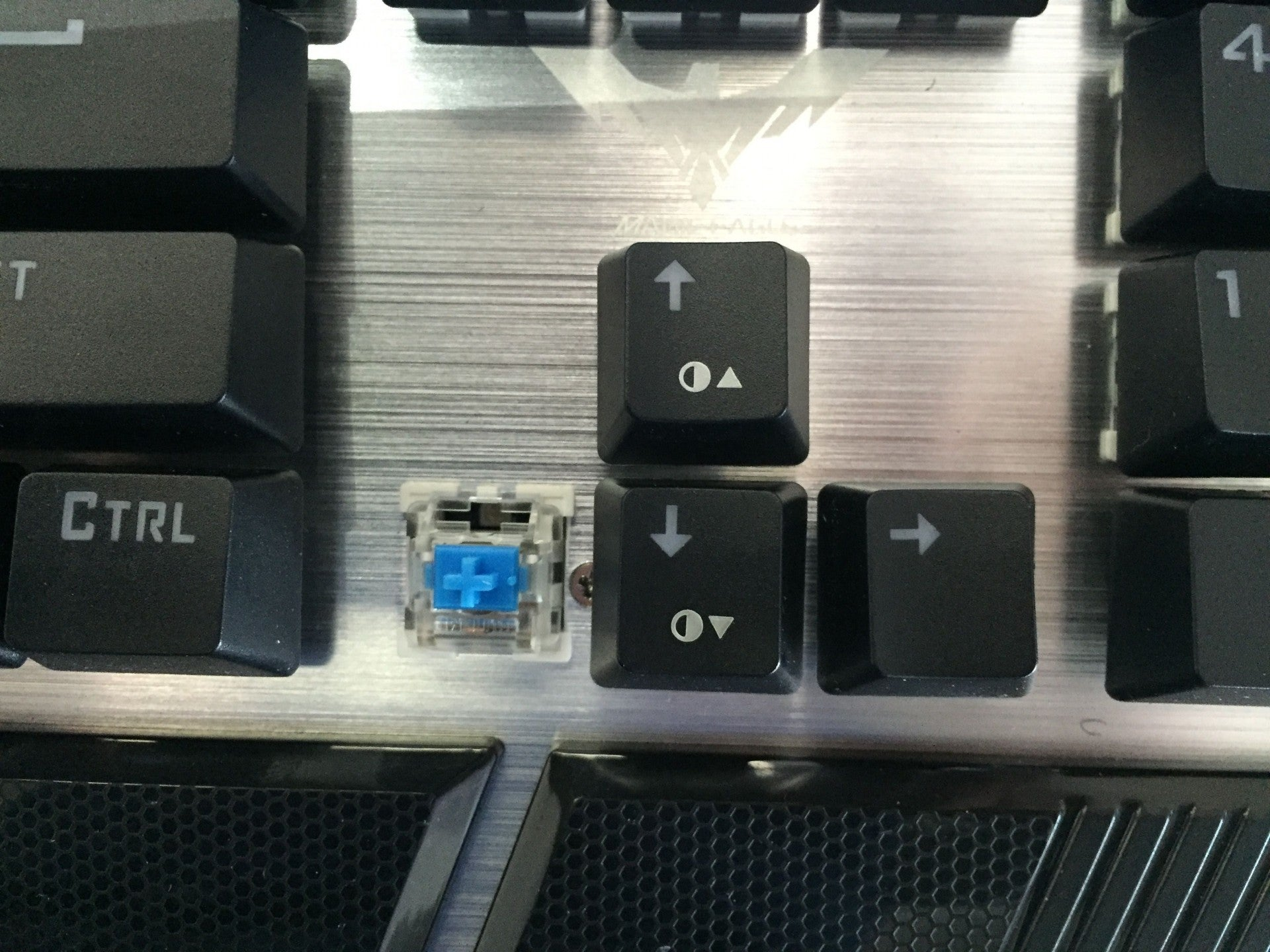 Otemu Blue Switch of HV-KB378L Mechanical Keyboard.