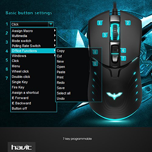 HAVIT HV-MS728 Programmable Gaming Mouse