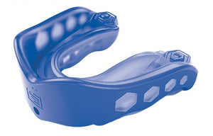 shock doctor gel max mouthguard w clear case royal blue
