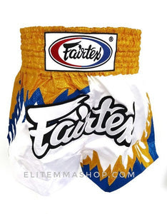 fairtex boxing short bs0623 gold and blue flame