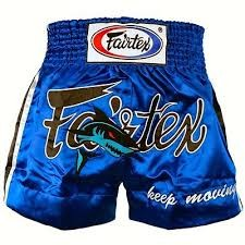fairtex boxing short keep moving satin bs0645 blue