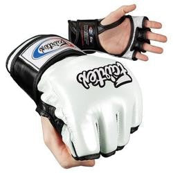 fairtex ultimate combat mma gloves whiteblack fgv12