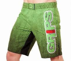 grips fight shorts snake green