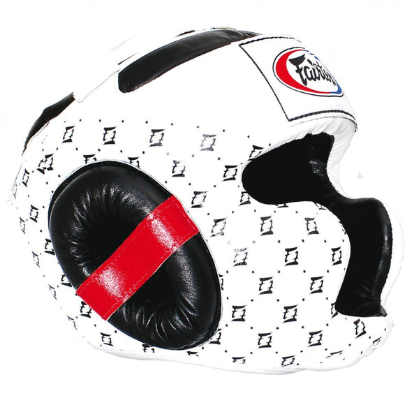 fairtex super headguard white black hg10
