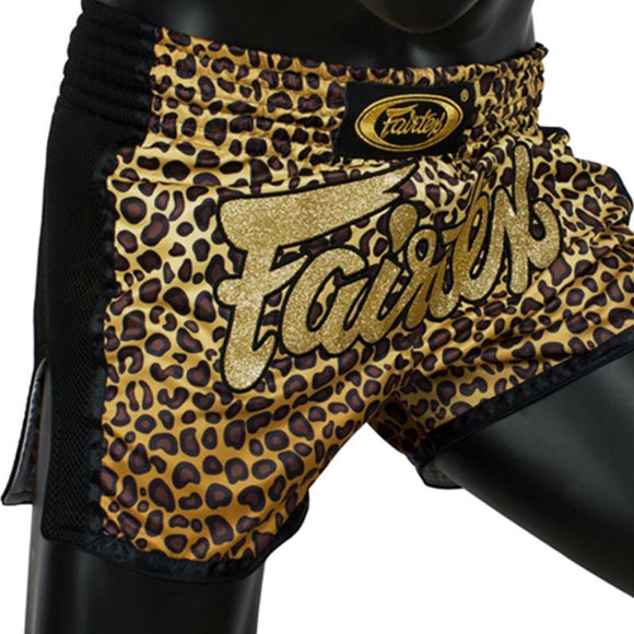 fairtex slim cut muaythai shorts bs1709 leopard