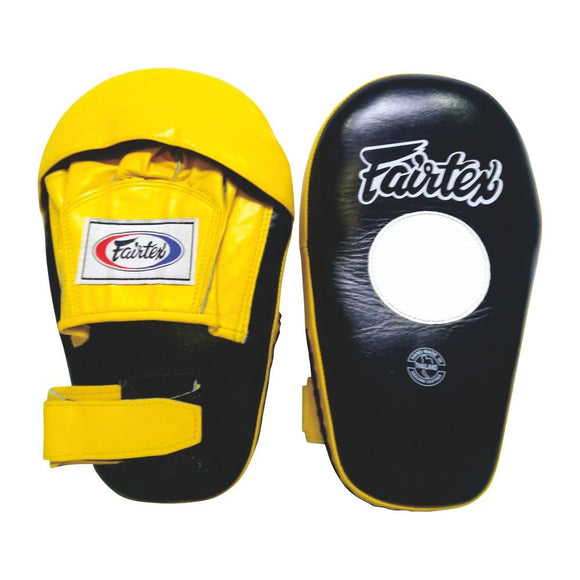fairtex angular focus mitts fmv8 blackyellow