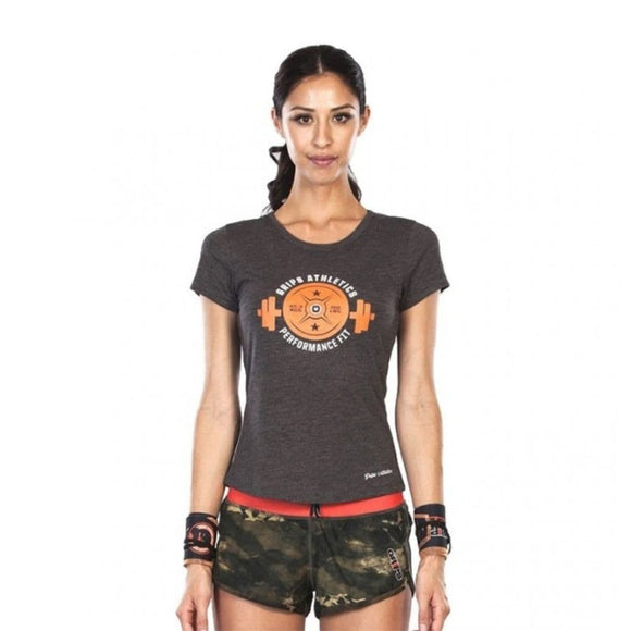 GRIPS Ladies Weight TEE Shirt GREY/ORANGE