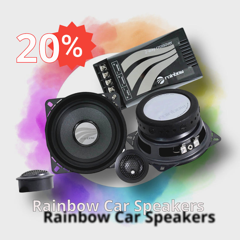 RAINBOW CAR AUDIO SPEAKERS Special offers 20% OFF