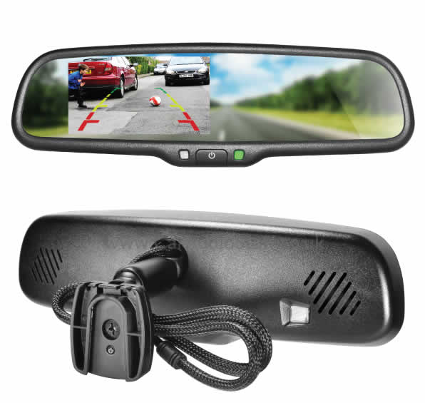 Rear View Mirror Monitor AK2-043LA from Steelmate by Steelmate - CarAudioStuff