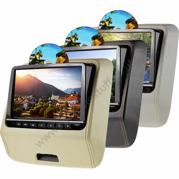 C-KO-HR-POD-HDMI-DVD Pod style headrest monitors with built in DVD by C-KO - CarAudioStuff