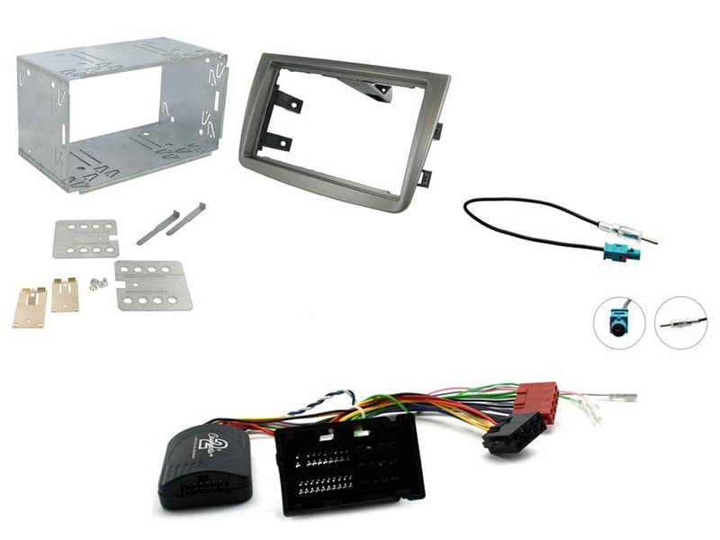Double DIN Installation Kit for Alfa Romeo Mito 14 Onwards Matt Titanium by Connects2 - CarAudioStuff