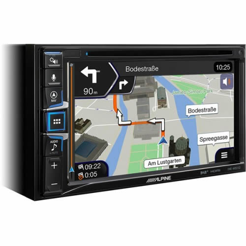 "Alpine 6.5"" Double DIN Sat Nav Multimedia System with Bluetooth USB - INE-W611D by Alpine - CarAudioStuff"