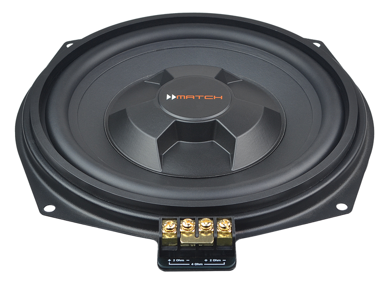 Match Pair of BMW Upgrade Underseat Subwoofers MW 8BMW-D by Match - CarAudioStuff