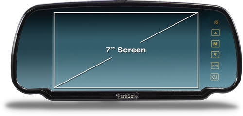 "7"" Colour Clip On Mirror Monitor with Touch Controls PS7006 by ParkSafe - CarAudioStuff"