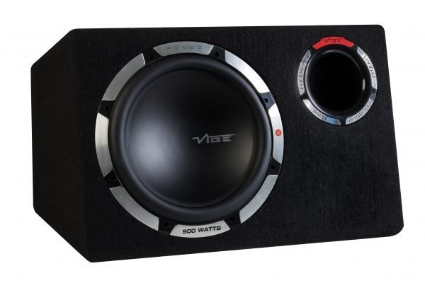 "Vibe 12"" Active Subwoofer in Ported Bass Enclosure PULSECBR12A by Vibe - CarAudioStuff"