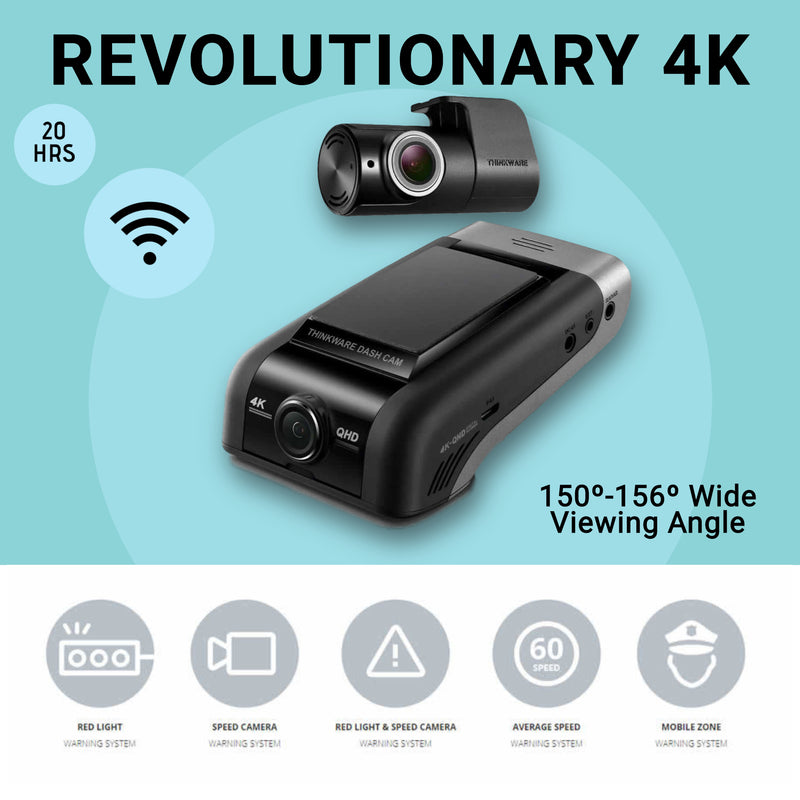 Thinkware U1000 The Revolutionary 4K DASH CAM front & Rear by Thinkware - CarAudioStuff