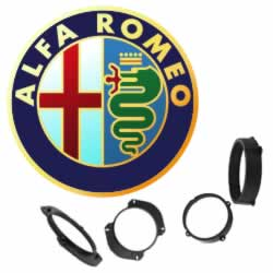 Alfa Romeo Speaker Mounting Adapter Rings by Connects2 - CarAudioStuff