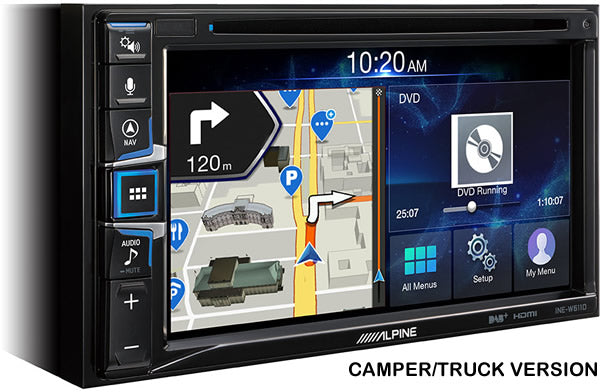 "Alpine 6.5"" Double DIN Camper and Truck Sat Nav Multimedia System - INE-W611DC by Alpine - CarAudioStuff"