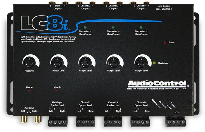 AudioControl LC8i Eight Channel Line Out Converter with Aux In OEM Interface by AudioControl - CarAudioStuff