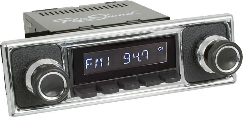 Retrosound Laguna Classic Car Radio Black Becker Pebble Black Style with AUX by Retrosound - CarAudioStuff